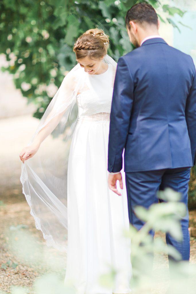 moment de découverte des mariés
