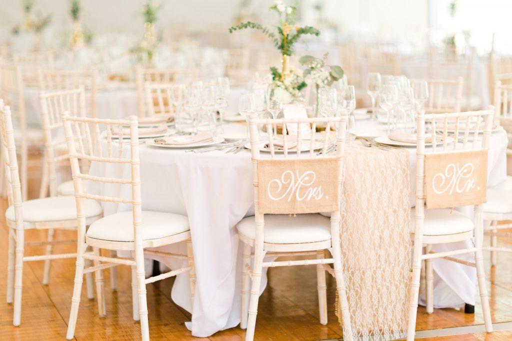 Initial des mariés table des mari&s