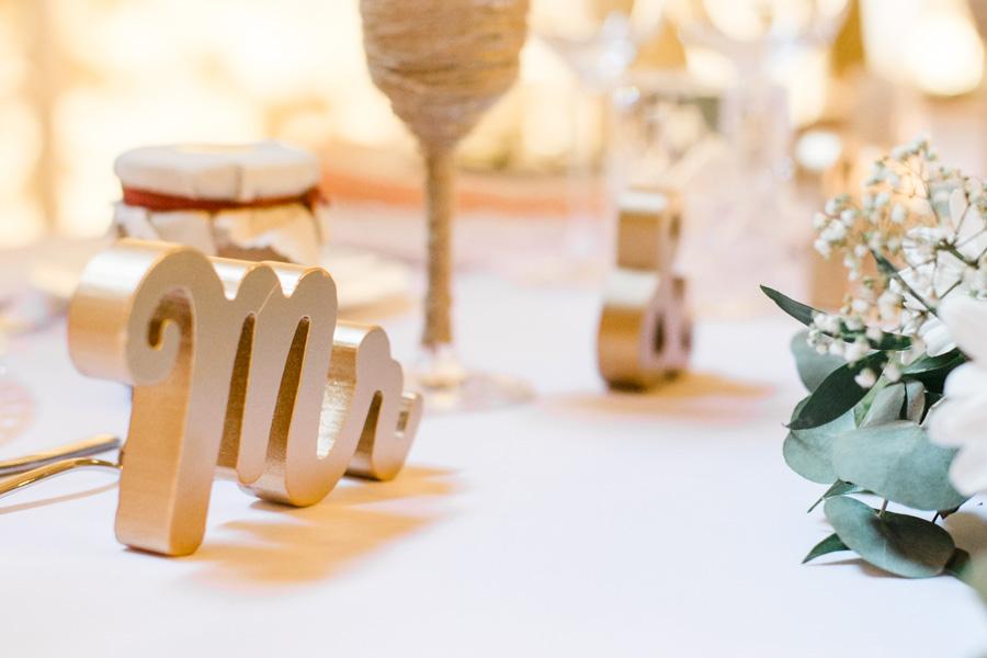 décoration table pour un mariage chic