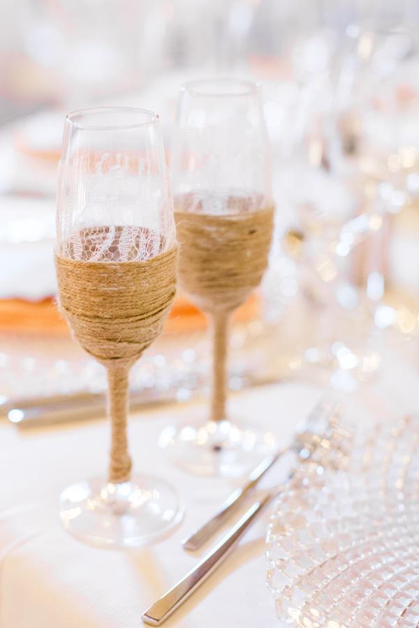 verre de champagne pour les mariés