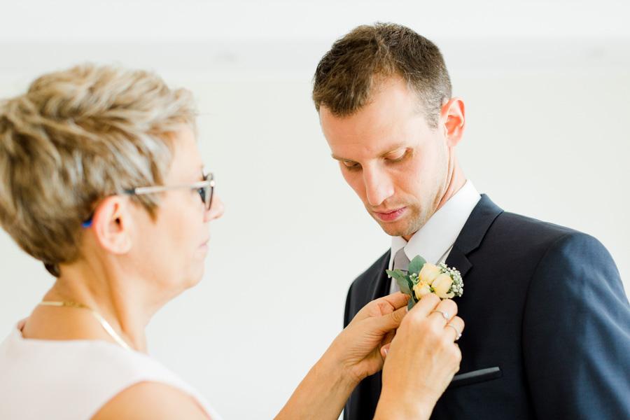 photo préparatif marié
