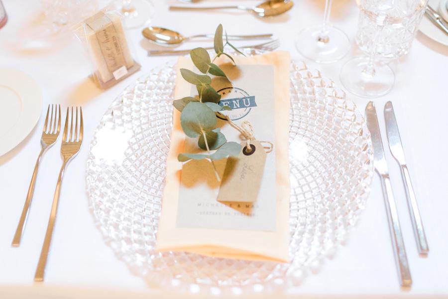 photographe de mariage Metz, décoration table des invités