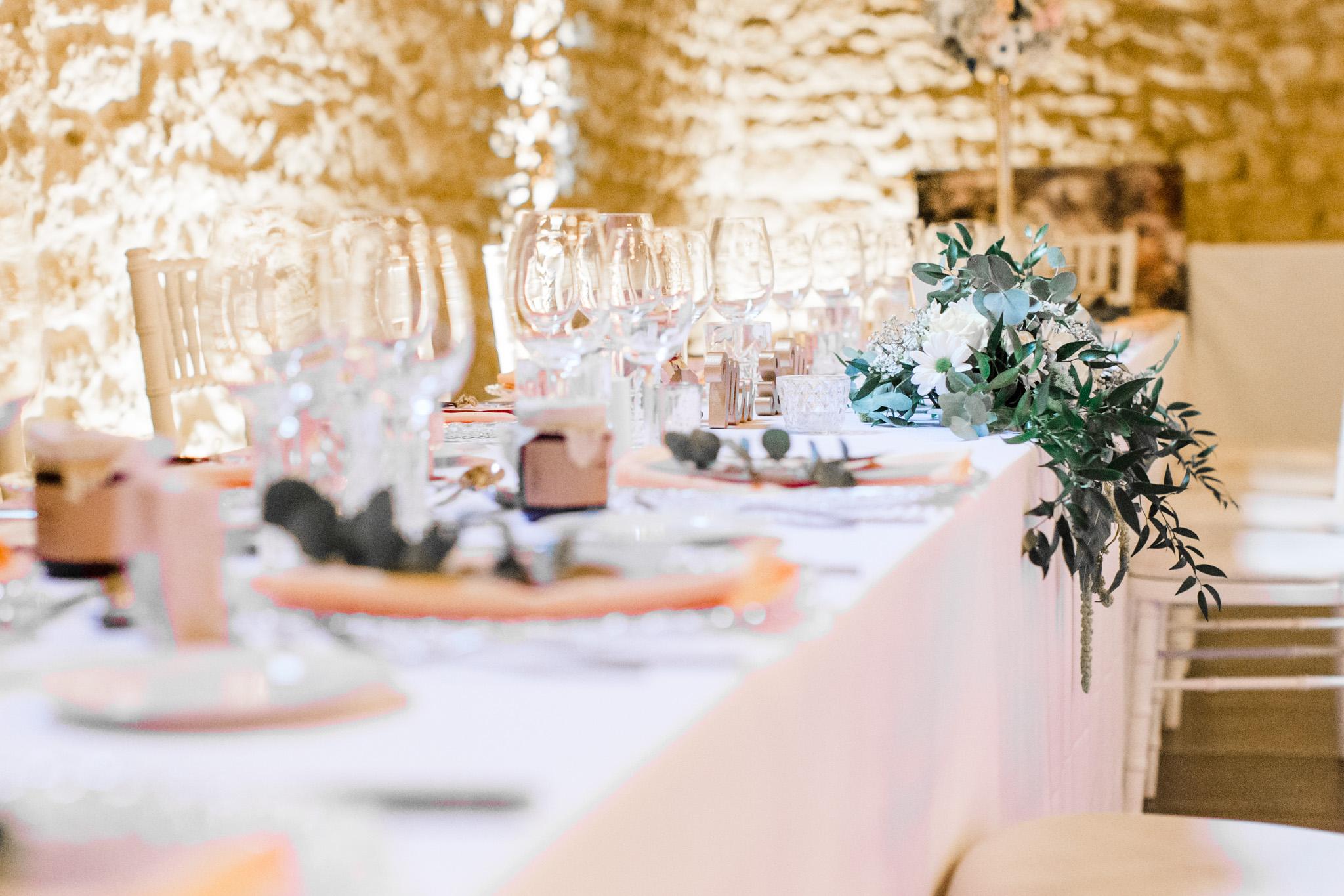 décoration table des mariés mariage