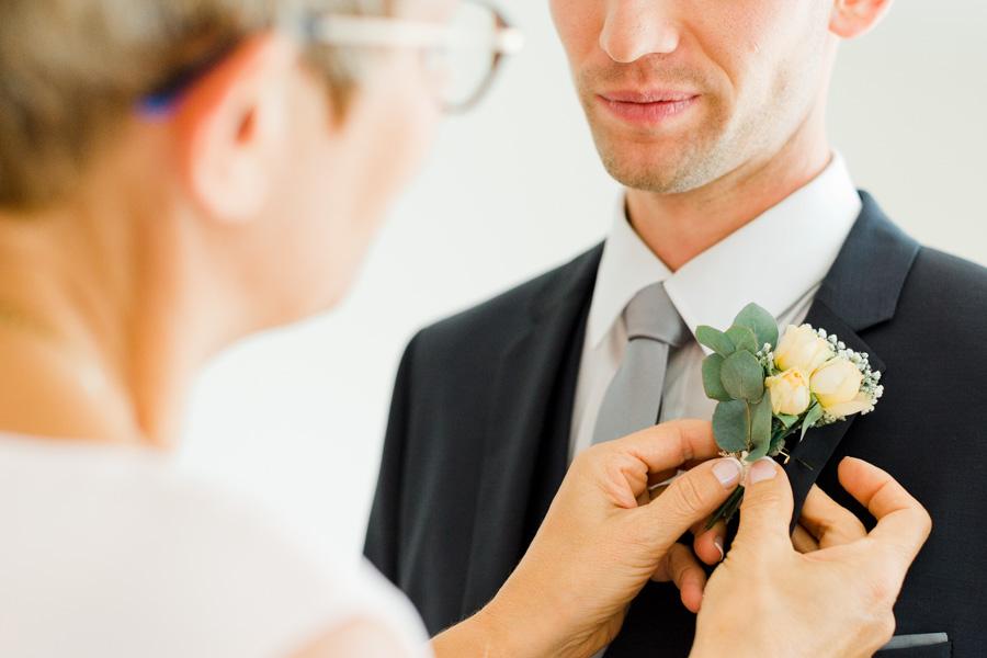 boutonnière fleur naturel du marié